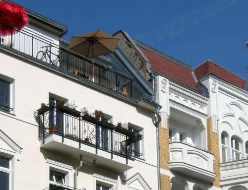 Algenbefall an der Hausfassade