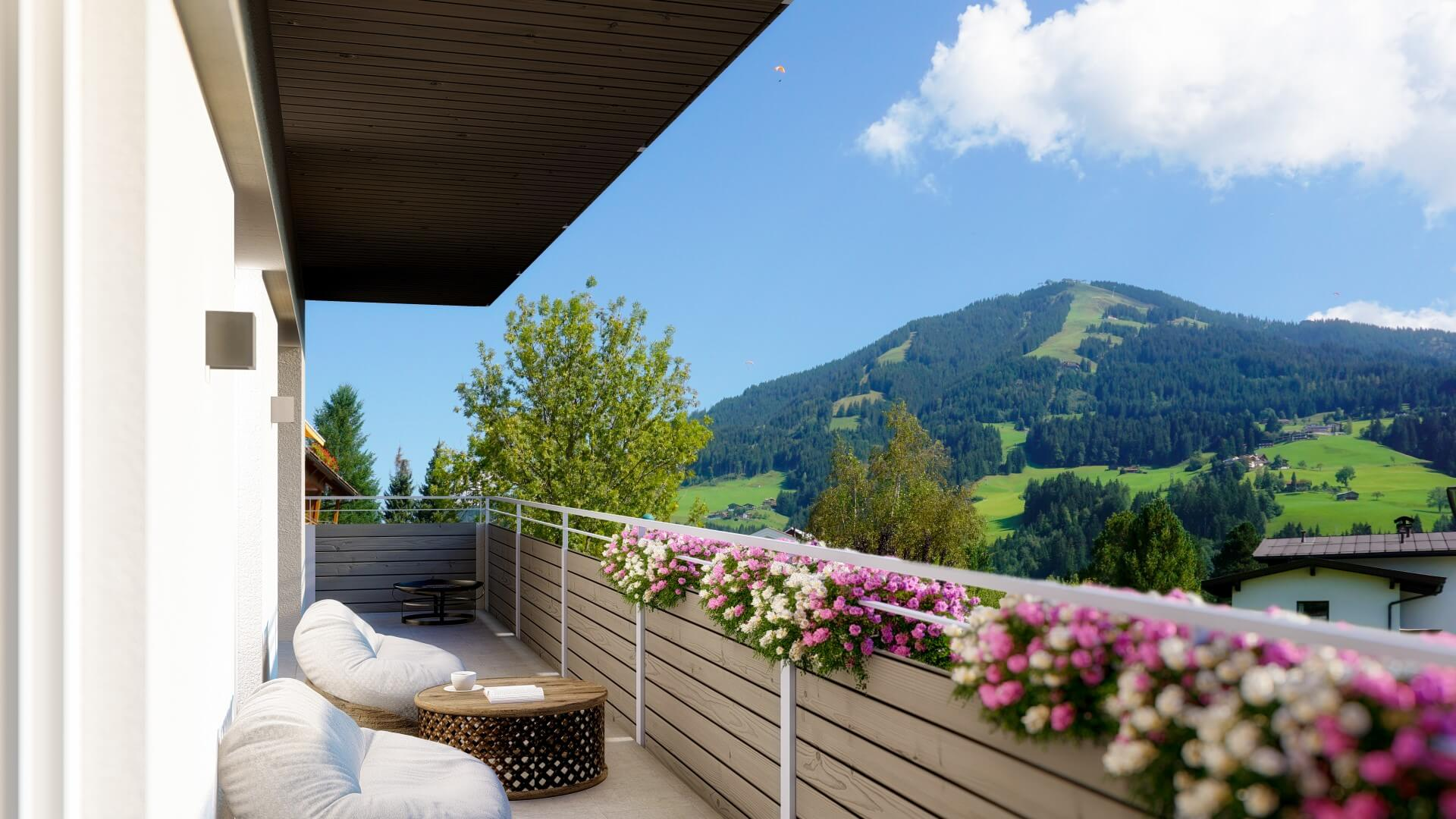 Mountain View Balkon